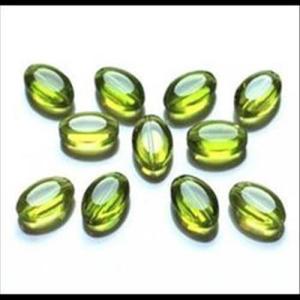 Perlen oval Oliven
