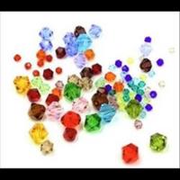 Glasschliff-Facettenperlen Rhomben