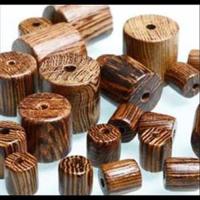 Holzperlen Zylinder