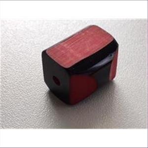 1 Acrylperle kantig 2-farbig