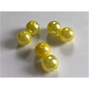 6 Acrylperlen 12mm gelb