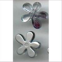 12  Acryl Blütenperlen