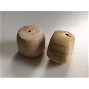 2 Holzperlen 18-21mm