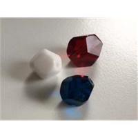 3  Glasschliffperlen mix