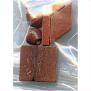 1 Beutel Holzperlen Mix rotbraun
