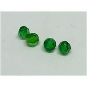 4 Glasschliffperlen grün