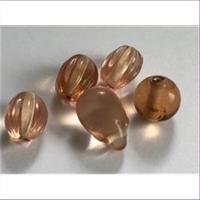 5  Glasperlen amber hell
