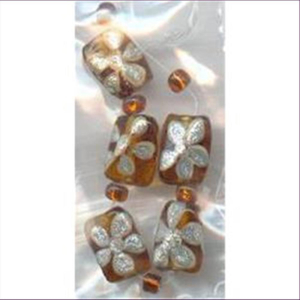 5 Handbemalte Glasperlen