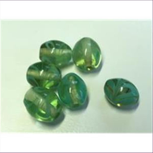 6 Glasperlen Oliven