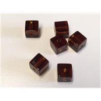 6 Glaswürfel Glasperlen Würfel 6mm