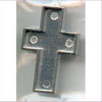 1 Metallanhänger Kreuz