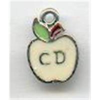 1 Emailleanhänger Apfel - CD