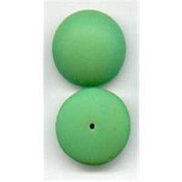 2 Glas Aufsteckperlen 18x7mm grün