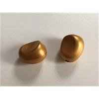 1 Beutel Acrylperlen mattgold