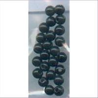 24 Acrylperlen 4mm schwarz