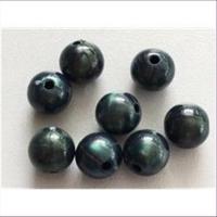 8 Acrylperlen 10mm dunkelgrün