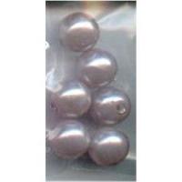 6 Acrylperlen 10mm flieder