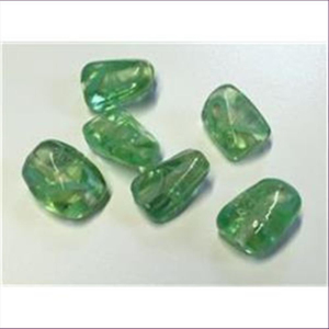6  Glasperlen grün