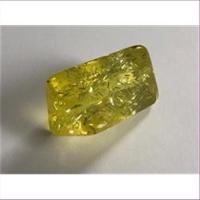 1 Acrylperle XL gedreht gelb Glitzer