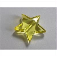 1 Acrylstern gelb transparent
