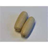 2 längliche Holzperlen 25x10mm