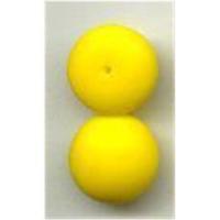 2 Glas Aufsteckperlen 12x5mm gelb