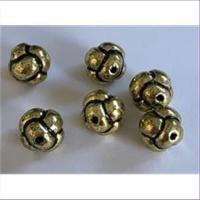 6 Acrylperlen Knoten
