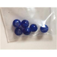 6 Glasperlen 6mm blau