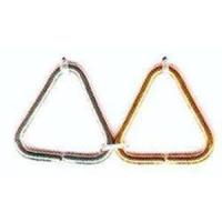 5 Triangeln 8mm goldfarbig