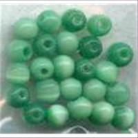 24 Acryl-Effektperlen 4mm grün