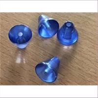 4 Acrylperlen Kegel blau