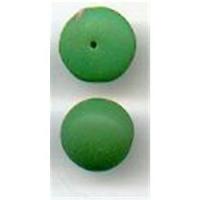 2 Glas Aufsteckperlen 12x5mm grün