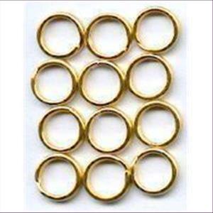 2gr Spaltringe 4,5mm goldfarbig