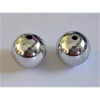2 Acrylperlen 15mm silber