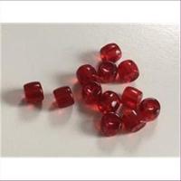 12 Glasperlen Glasrondelle rot
