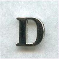 """1 Metall-Buchstabe """"D"""""""