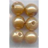 6 Acrylperlen 7mm hellbraun