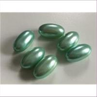 6 Acrylperlen Oliven 18x10mm