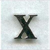 "1 Metall-Buchstabe ""X"""