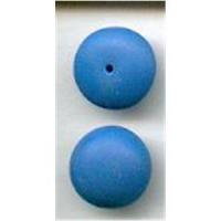 2 Glas Aufsteckperlen 14x5mm blau