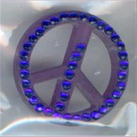 """1 Acryl Perle Straß """"Peace"""""""