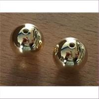 2 Acrylperlen 16mm gold