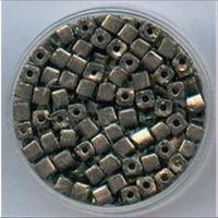 40gr. Rocailles Würfel anthrazit grau 3mm