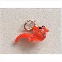 1 Glasfigur Glasanhänger Goldfisch