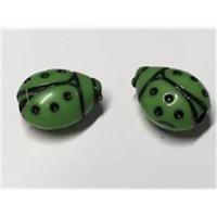1 Marienkäferperle grün
