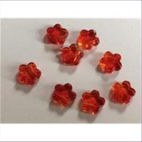 1 Acryl Blüte orange rot