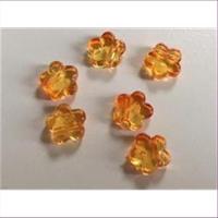 1 Acryl Blüte orange gelb