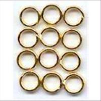 12 Spaltringe 6mm goldfarbig