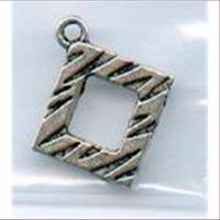 1 Metallanhänger Quadrat