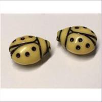 1 Marienkäferperle gelb